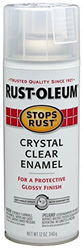Rust-Oleum 7701830 Stops Rust Spray Paint, 12-Ounce, Gloss Crystal Clear