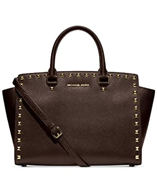 michael michael kors large selma studded saffiano tote. Black Bedroom Furniture Sets. Home Design Ideas