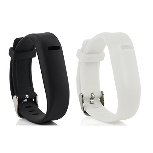 Cute Silicone Replacement Wristband Bracelets/ Wireless Activity and Sleep Tracker Accessory 4-in-1 Bands Pack with Buckle For Fitbit Flex, One Size, Black & White (Fitbit Flex Unit compare prices)
