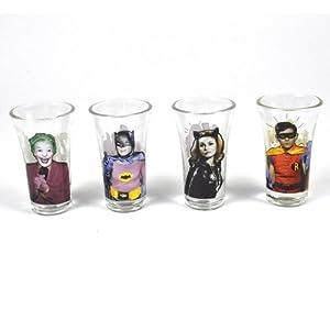 Batman 1966 Set of 4 Shot Glasses