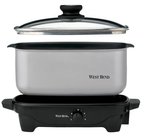 West Bend 84905 5-Quart Oblong-Shaped Slow Cooker