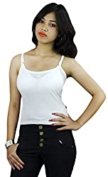 Vimal White Cotton Camisole For Women