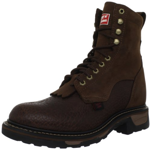 Tony Lama Boots Men's Shoulder Lacer TW2002 Work Boot,Chocolate Shoulder/Tan Cheyenne,13 EE US