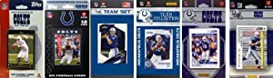 NFL Indianapolis Colts 6 Different Licensed Trading Card Team Sets by C&I Collectables