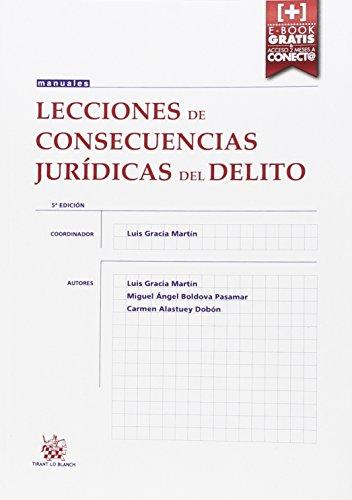 Lecciones de Consecuencias Jurídicas del Delito 5ª Edición 2015 (Manuales de Derecho Penal)