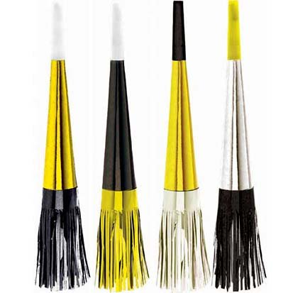 Black, Gold and Silver Fringed Horns 16ct