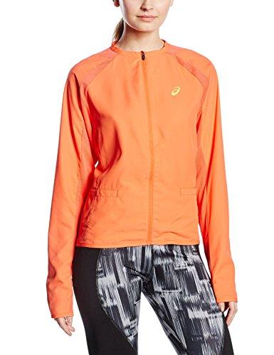 Asics-Felpa da donna, modello Samantha, serie Athlete Stosur-Giacca della tuta, taglia L, colore: arancione
