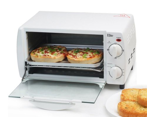 Maximatic Eka-9210W Elite Cuisine 4-Slice Toaster Oven Broiler, White