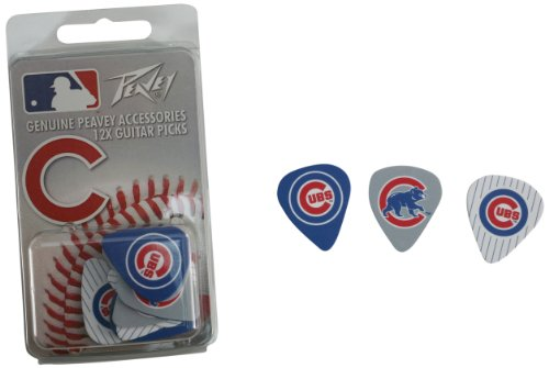 Chicago Cubs MLB Guitar Pick Pack by Peavey peavey valveking 212 combo