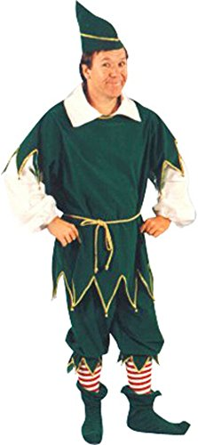 Large Men's Velvet Elf Costume (Size 44 to 46)