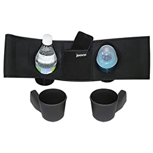 Joovy Caboose VaryLight Parent Organizer and Cup Holders, Black