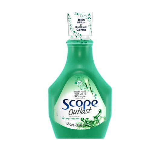 Scope Mouthwash Outlast Long Lasting Mint, 42.3-Ounce