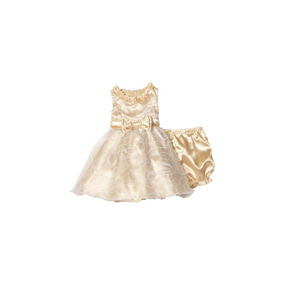 Nannette Baby girls Infant Satin Rose Dress
