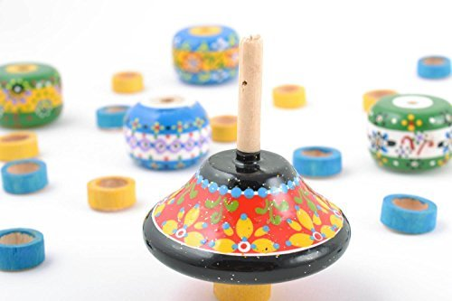 Bright-painted-handmade-wooden-eco-toy-spinning-top-for-children-kids-gift-ideas