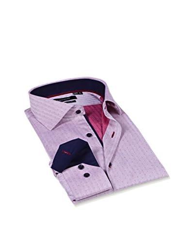 Levinas Men's Dress Shirt with Contrast Trim