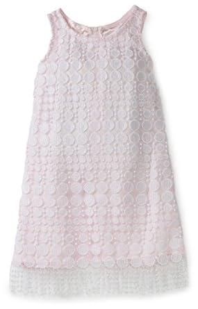 Biscotti Little Girls' Amazing Lace Dress, White/Pink, 4
