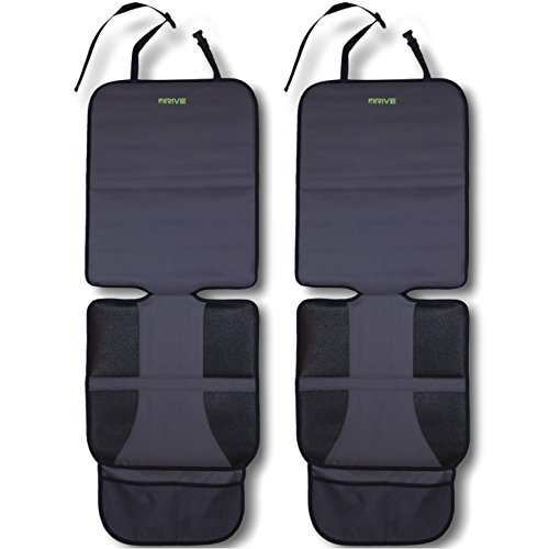 Car Seat Protector (2-Pack) by Drive Auto Products - Best Protection for Child & Baby Cars Seats, Dog Mat - Ultimate Cover Pad Protects Automotive Vehicle Leather or Cloth Upholstery (For Car Seats compare prices)