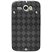 Amzer AMZ91682 Luxe Argyle High Gloss TPU Soft Gel Skin Case for HTC ChaCha (Smoke Grey)