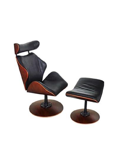 Manhattan Living Luxur Lounge Set, Black As You See