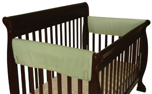 Leachco Easy Teether XL Side Crib Rail Cover, 2 Pack, Sage