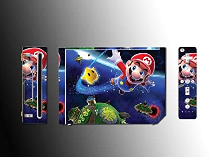 Super Mario Bros Sunshine Sticker Vinyl Decal Skin Protector Cover #1 for Nintendo Wii