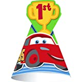 Disney 1st Birthday Cars Cone Hats (8 count) Party Accessory