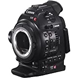 Canon EOS C100 EF (Cinema, EOS, C-100) Super 35mm digital cinematography camcorder installed with Dual Pixel CMOS AF (built in auto focus) & EF 18-135mm lens