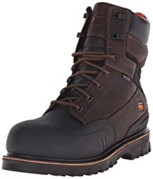 Timberland PRO Men\'s 8 Inch Rigmaster XT Steel Toe WP Work Boot, Brown Tumbled Leather, 10 M US