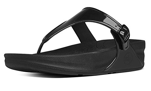 Women's FitFlop 'Superjelly' Thong Sandal, Size 8 M - Grey