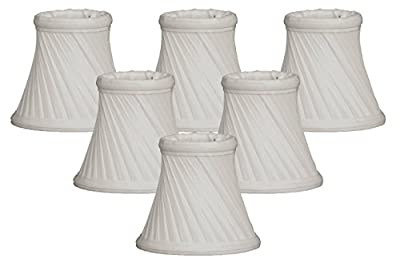 "Royal Designs 5"" Twisted Bell Chandelier Lamp Shade, White, Set of 6, 3 x 5 x 4.5 (CS-716WH-6)"