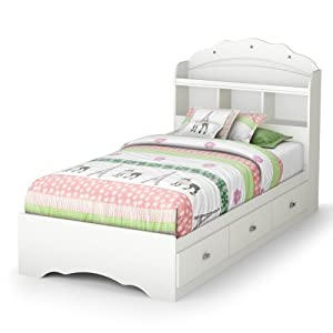 Amazon.com - Tiara Twin Mate's Bed & Bookcase Headboard ...
