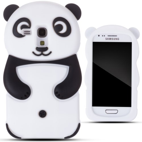 Zooky® Black Silicone Panda Case / Cover / Shell For Samsung Galaxy S3 Mini (I8190)