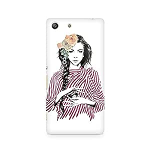 MOBICTURE Girl Abstract Premium Designer Mobile Back Case Cover For Sony Xperia M5