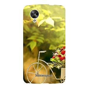 HomeSoGood Lovely Floral Carrier Green 3D Mobile Case For LG Nexus 5 (Back Cover)
