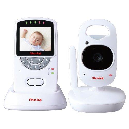 日本育児 nihonikuji ベビーモニター デジタルカラースマートビデオモニターII 親機重さ約115g 子機重さ約125g 5000004001 0歳以降対象 さらに映像が滑らかになったビデオモニター