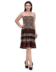 Viba London Women Jodhpuri Print Smoking Dress Multicolor Large