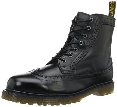 Dr. Martens Men's Fitzroy Boot,Black Polished Wyoming,6 UK/7 M US