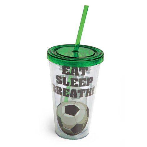 Eat Sleep Breathe Soccer,Insulated Cup With Straw 17 Oz,Tumbler,4X4X6.25 Inches front-91717
