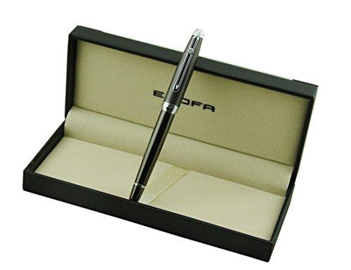 erofa-regal-carbone-titane-mediun-stylo-plume-avec-pointe-de-luxe-boite-cadeau
