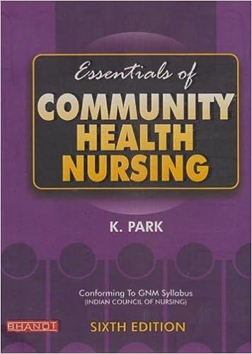 community health nursing book k park free