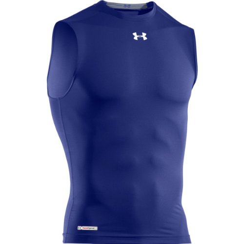 Under Armour HG Sonic Compression Men's Sleeveless T-Shirt, Royal/White FR: XL (Manufacturer Size: XL)