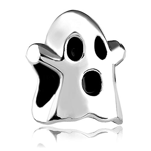 Halloween Gifts New Sale Cheap Ghost Silver Plated Charm Beads Fit Pandora Jewelry Charms Bracelet