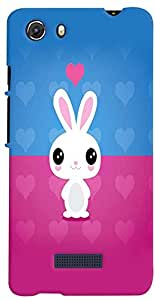 PRINTVISA Cartoon Rabbit Cute Case Cover for Micromax Unite 3 Q372 (Multicolour)