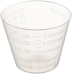 Delta Education Medicine Measuring Cup, 1 oz Capacity, Clear (Pack of 30)