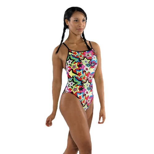 Maru Kapow Splish Back Womens High Leg Swimming Costume