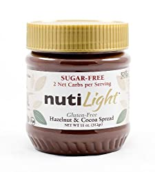 NUTILIGHT – SUGAR FREE, LOW CARB, HAZELNUT AND COCOA SPREAD 11 oz. Jar