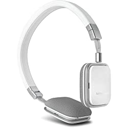 Harman Kardon SOHOa WHT Premium Lie-Flat On Ear Mini Headphones with Universal Remote (White)