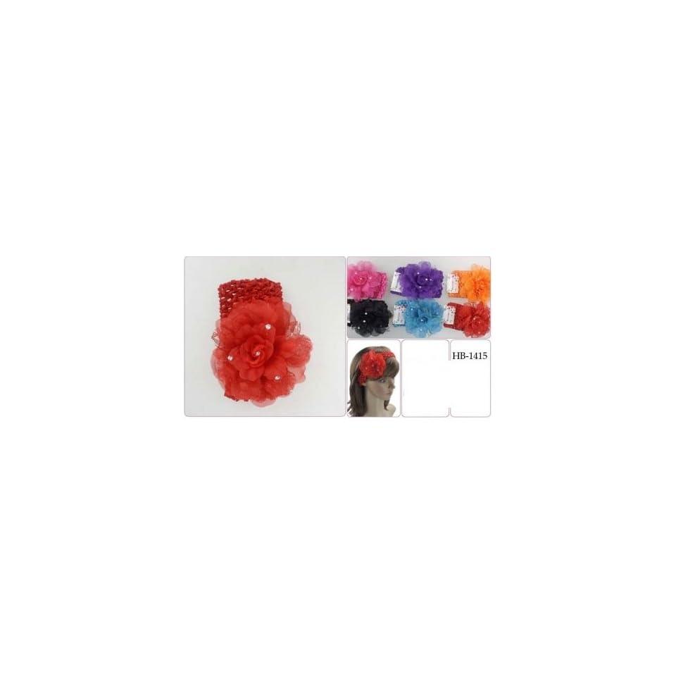 6 PCS flower Crochet Headband (different color)