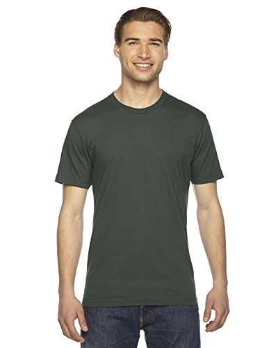 American Apparel ltext Fine Jersey Short Sleeve T-Shirt Lieutenant Small