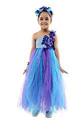 StyleMyKidz Girls' Dress (GTU104_3 Years, Blue and Purple, 3 Years)